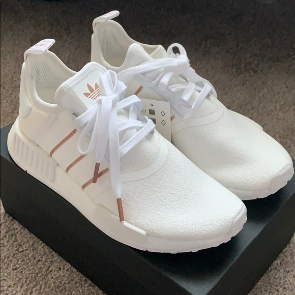 Adidas Shoes Nmd R1 White Rose Gold Womens Sneakers Poshmark